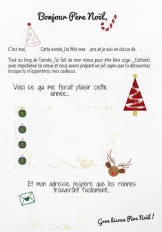 La lettre au Père Noël (à imprimer)