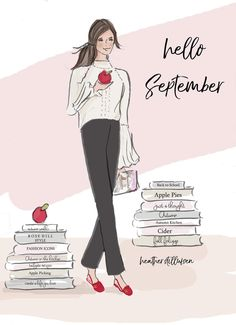 Sonia S. on Hello September by Heather Stillufsen Sonia S. on Hello September by Heather Stillufsen Sonia S. on Hello September by Heather Stillufsen Sonia S. on Hello September by Heather Stillufsen Neuer Monat, Hello Weekend, Sassy Pants, Girly Quotes, Months In A Year, Fashion Sketches, Woman Quotes, Style Icons, Illustration