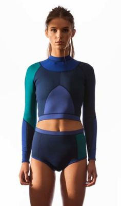 Avoca wetsuit vest from Tallow surfwear is a neoprene and lycra mixed panel crop vest with back zipper, lycra bind finishes and flat lock stitching.