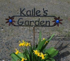 GREAT Gift Custom Name Garden Sign with YOUR NAME Personalized