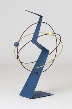 Curtis Jere 1988 Polychromed metal and painted wood 34.5 x 20 x 20 in (87.63 x 50.8 x 50.8 cm)