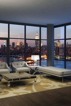 I always wanted to have a place with floor to ceiling (uncurtained) windows looking at a city scape.