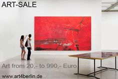 ART-SALE, moderne Kunst, abstrakte Ölgemälde, große Acrylbilder günstig in zwei Berliner Galerien.