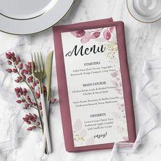 Wedding Menu Template Bar Menu Wedding Menu Menu Cards | Etsy Diy Wedding Menu, Wedding Dinner Menu, Wedding Menu Template, Wedding Table, Printable Menu, Printable Wedding Invitations, Microsoft Word, Menu Card Template, Cocktail