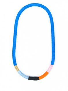Thin Blue Ndebele Necklace by Pichulik