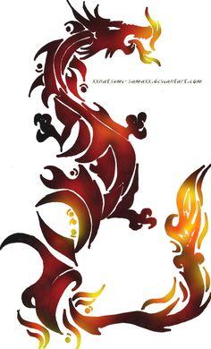 Fire Dragon Tattoo by ~audelade on deviantART