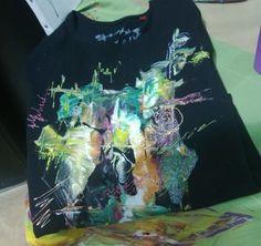 Tshirt décoré avec de la DIAM'S par Christine Jullien