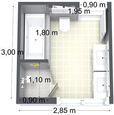 Bad im offenen Haus - - #badezimmerideen Bathroom Toilets, Washroom, Bathroom Renos, Bathroom Renovations, Double Vasque, Bathroom Floor Plans, Family Bathroom, Bathroom Layout, Tiny Bathrooms