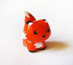 Little Orange Fox Totem Miniature Figurine. $15.00, via Etsy.