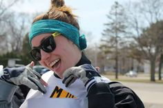 My daughter Elli after taking second place in the winter college race in Appleton WI