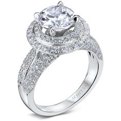 14kt White Gold (H/SI) Ladies Engagement Ring From the NamasteCollection by Scott Kay