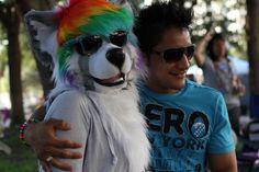 Aisu fursuit at Pride