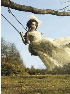visual optimism; daily fashion fix: the wonderful world of helena: helena bonham carter by jr mankoff for harper's bazaar uk june 2012