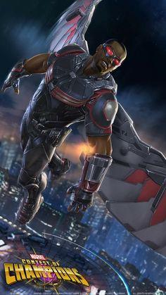 Falcon-Sturm der Superhelden