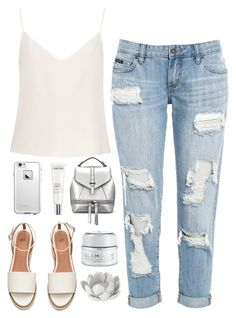 """Untitled #9"" by loisdomingo ❤ liked on Polyvore featuring Raey, LifeProof, Lancôme, GlamGlow, Pavilion Broadway and Summer"
