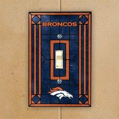 5d7045312b8 Denver Broncos Navy Blue Art-Glass Switch Plate Cover  denverbroncos   broncos  gifts
