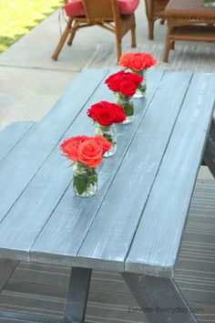 Picnic Table Makeover with DecoArt Wednesday,  May 13, 2015Picnic Table Makeover with DecoArt