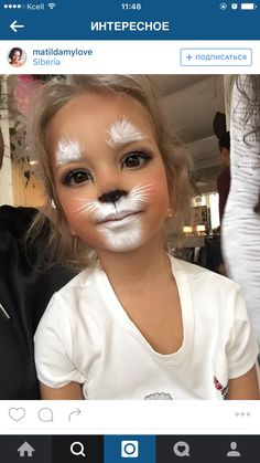Explore collection of Easter Bunny Face Painting Bunny Face Paint, Easter Face Paint, Tiger Face Paint Easy, Mouse Face Paint, Zombie Face Paint, Bunny Makeup, Kids Makeup, White Rabbit Makeup, Cat Face Makeup