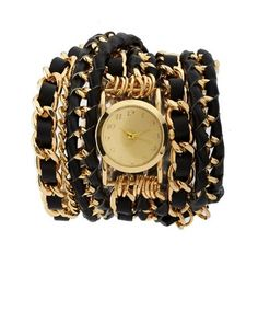 Wrapped Woven Chain Watch: Charlotte Russe