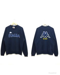 3ce469913b2e Excited to share this item from my shop  Rare! Vintage KAPPA Sweatshirt Big  Logo Navy Blue Color Large Size on Tag