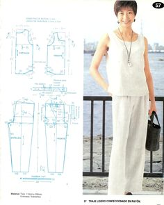 Best 12 Sleeveless tip n pants Diy Crafts Dress, Clothing Patterns, Sewing Patterns, Diy Clothes Refashion, Make Your Own Clothes, Dress Making Patterns, Pants Pattern, Ladies Boutique, Simple Dresses