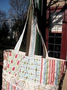 Charm pack tote bag