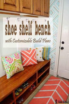 shoe shelf bench  Free plans customized to your space on hertoolbelt.com