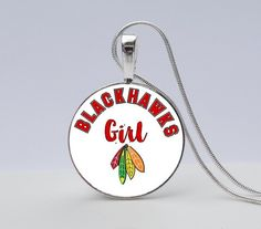 Blackhawks Girl Necklace