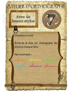 Fiches d'activités pour l'atelier d'orthographe - Fiches de préparations (cycle1-cycle 2-CLIS)