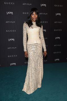 Naomi Campbell in Givenchy at the LACMA gala