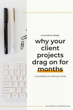 If you're not preparing your clients before the project begins, your projects can end up dragging on much longer than they should. Find out how to keep projects running on-time in this post! #freelance #entrepreneur #creativebusiness #systems Creative Business, Business Tips, Online Business, Business Coaching, Content Marketing, Affiliate Marketing, Social Media Marketing, Welcome Packet, Search Engine Marketing