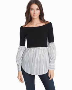 Women's Two-fer Sweater by WHBM