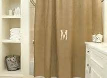 Burlap Shower Curtain , Monogrammed #2015
