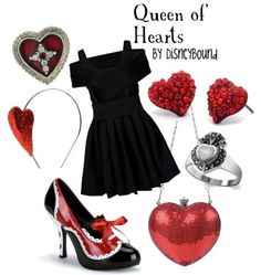The queen of hearts by Disneybound! Those shoes are AWESOME!