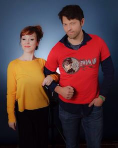 Supernatural: Ruth Connell and Misha Collins