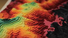 Topographic Paper Landscapes — Crafthubs