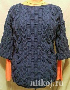 Пуловер «Кельтская цветочная лоза»