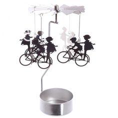 Stojánek na čajovou svíčku s otočnou dekorací Kolo #kolo #tealigh #homedecor #cycle #accessories #giftware