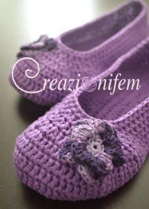 "Articoli simili a English Pattern ""Crochet Ballet Flats in 12 steps"" su Etsy Crochet Shoes, Crochet Slippers, Knit Or Crochet, Crochet Gifts, Crochet For Kids, Crochet Clothes, Crochet Baby, Crochet Designs, Crochet Patterns"