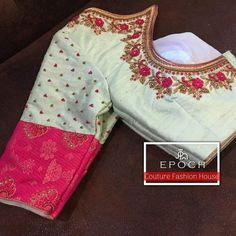 22 best Ideas for embroidery blouse saree crop tops Cutwork Blouse Designs, Pattu Saree Blouse Designs, Simple Blouse Designs, Stylish Blouse Design, Blouse Neck Designs, Bridal Blouse Designs, Dress Designs, Sewing Clothes Women, Dress Clothes For Women