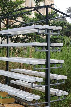 Hydroponics Setup, Hydroponic Farming, Aquaponics Greenhouse, Aquaponics System, Vertical Vegetable Gardens, Vertical Farming, Vegetable Garden Design, Aquaponique Diy, Indoor Farming