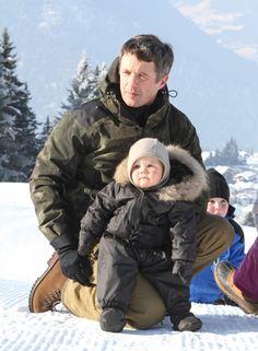 famille de Danemark aux sport d'hiver