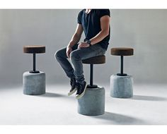 wiid design - cork bar stool