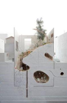 linowska: archimodels: © ikimono architects So gastro Model Architecture, Concept Architecture, Architecture Drawings, Landscape Architecture, Interior Architecture, Amazing Architecture, Chinese Architecture, Interior Design, Planer Layout