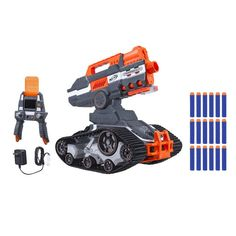 """Kids will have a """"blast"""" launching soft darts long distances with their Toys""""R""""Us NERF N-Strike Elite. NERF N-Strike come with impressive features. Toys R Us, Buy Toys, Nerf Machine Gun, Machine Guns, Pistola Nerf, Best Christmas Toys, Christmas 2016, Kids Christmas, Christmas Shopping"""