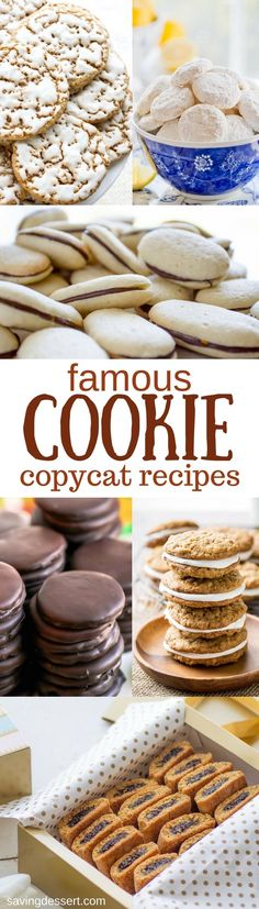 Famous Cookie Copycat Recipes - What could be more enticing than a delicious homemade cookie that tastes better than the famous original? #savingroomfordessert #copycat #copycatcookie #famouscookierecipe #famouscopycatcookies #cookies #dessert