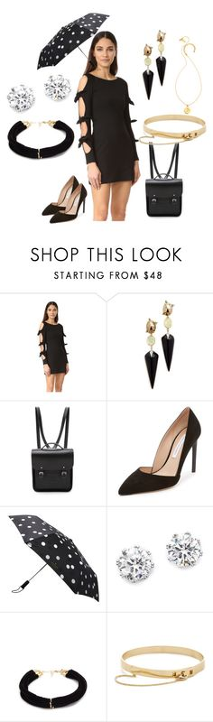 """best black collection"" by monica022 ❤ liked on Polyvore featuring Susana Monaco, Alexis Bittar, The Cambridge Satchel Company, Kate Spade, Kenneth Jay Lane, Elizabeth and James, Eddie Borgo and vintage"