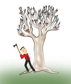Jeder Baum zählt! don't kill him Comics, Home Decor, Creative Ideas, Tree Structure, Decoration Home, Room Decor, Cartoons, Home Interior Design, Comic