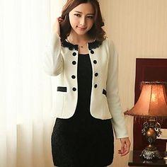 Women's Casual Medium Long Sleeve Short Outerwear (Lace) – AUD $ 37.17