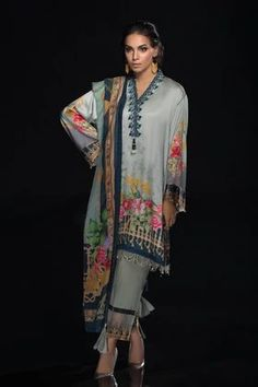 Sapphire Festive Collection 2019 Teal Fabric, Pakistani Dresses, Pakistani Suits, Album Design, M Color, Winter Collection, Party Wear, Amazing Women, Kimono Top